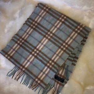 Burberry light blue cashmere scarf